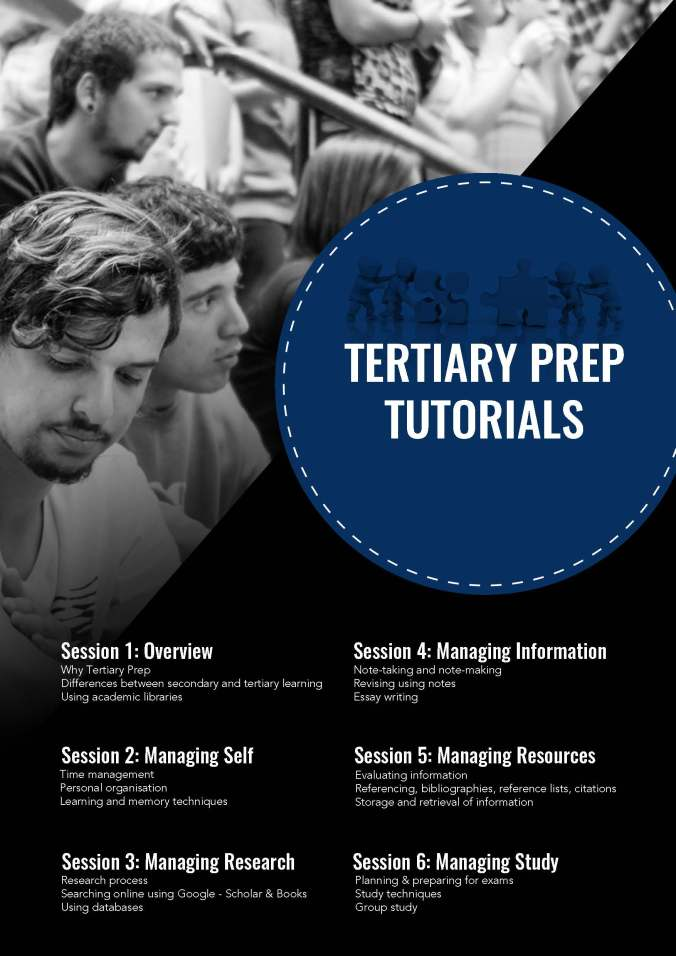 Tertiary Prep Sessions Website